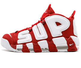 For sale New Nike UPTEMPO Supreme Metallic Gold shoes