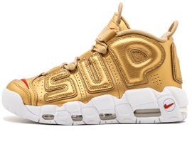 Buy The best Nike UPTEMPO Supreme Metallic Gold online