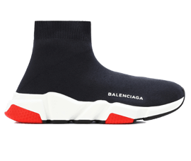 How to get New Balenciaga Speed Trainers Mid Black White Red sneakers online