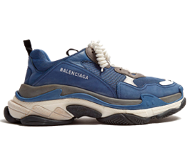 Price of Cheap Balenciaga Triple S Trainers Navy Gray