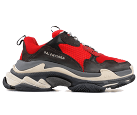 Order Cheap Balenciaga Triple S Trainers RED / Black online