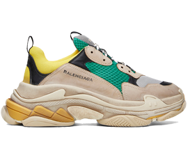 How to get Cheap Balenciaga Triple S Trainers Green / Yellow sneakers online