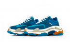 Balenciaga Wmns Triple S Trainer Blue White Orange