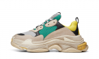 BALENCIAGA TRIPLE S TRAINERS GREEN/YELLOW